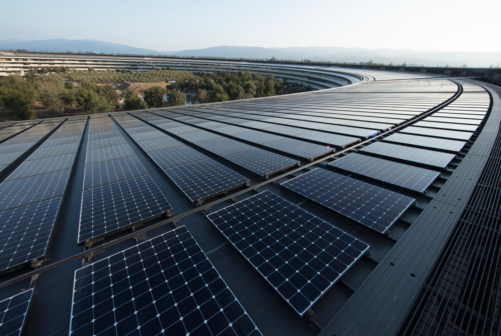 Solar panels at Apple Park in California