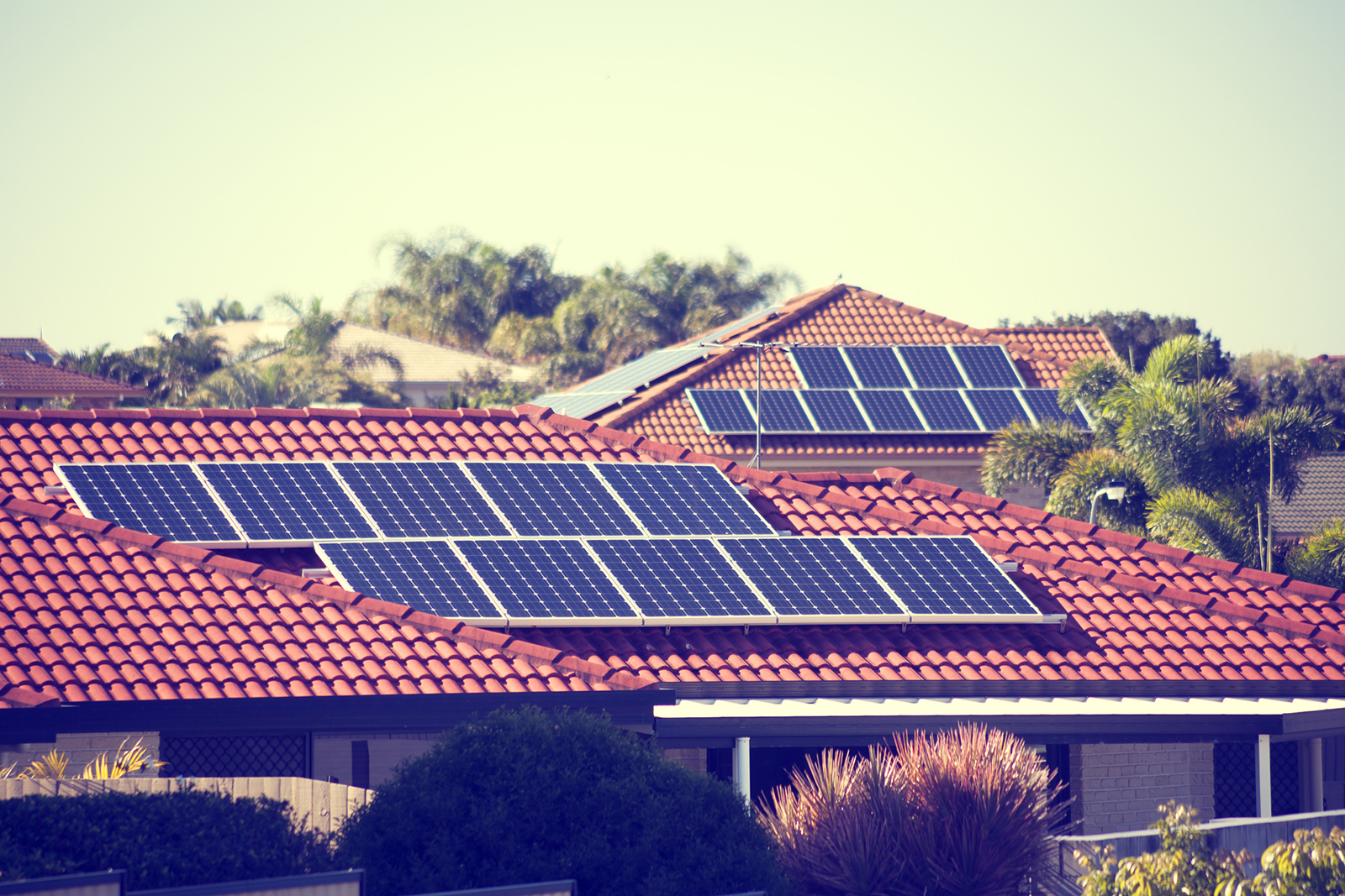 Rooftop solar panels in Australia