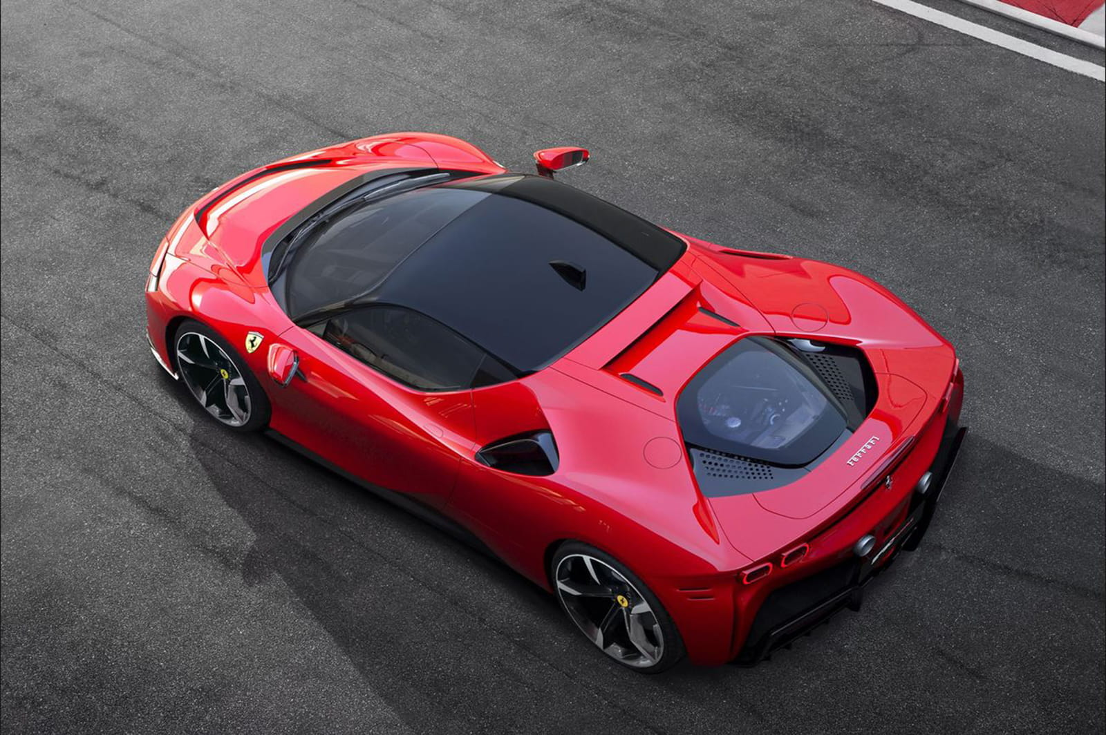 Ferrari SF90 Stradale on racetrack